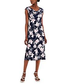 Petite Cowlneck Midi Dress