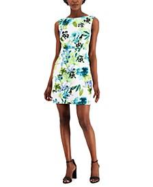 Petite Printed Sheath Dress