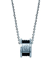 Forever, Stainless steel necklace, Stainless steel ring, Stainless steel black PVD cable, Steel chain