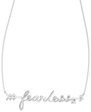 Diamond 1/20 ct. t.w. Fearless Necklace in Sterling Silver
