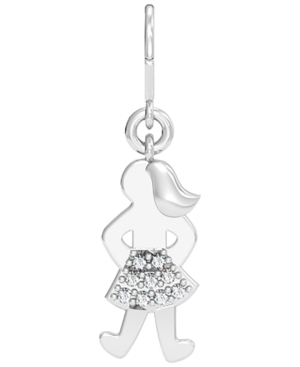 Diamond 1/20 ct. t.w. Fearless Girl Charm in Sterling Silver