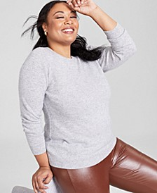 Plus Size Cashmere Crewneck Sweater, Created for Macy's