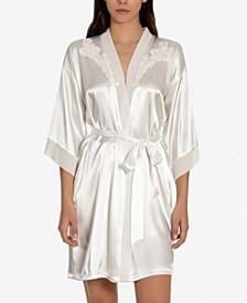 Heather Bridal Charmeuse Wrap Robe