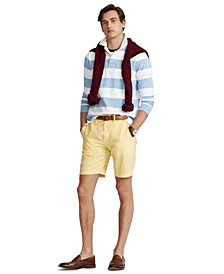 "Men's 8.5"" Straight-Fit Linen Cotton Chino Shorts"