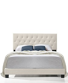 Royale Tufted Bed with USB Charging Ports, Queen