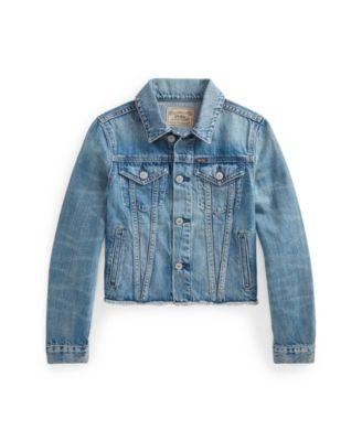 폴로 랄프로렌 걸즈 자켓 Polo Ralph Lauren Big Girls Logo Denim Trucker Jacket,Ridge Wash