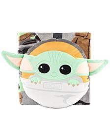 Star Wars The Mandalorian Baby Yoda 2-Pc. Nogginz Pillow & Travel Throw Set