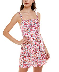 Juniors' Emma Floral-Print Dress