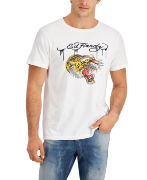 Men's Retro Tiger Logo Graphic T-Shirt
