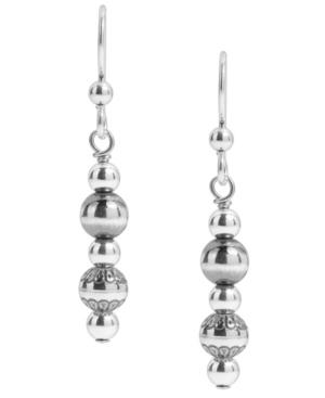 by Carolyn Pollack Sterling Silver Native Pearl Linear Dangle Earrings