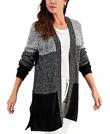 Turbo Colorblocked Open-Front Cardigan, Created for Macy's