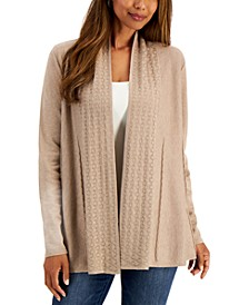 Eyelet-Trim Braided-Detail Cardigan, Created for Macy's