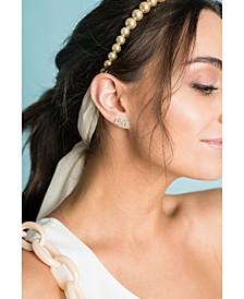 Audrey Glass-Pearl Headband