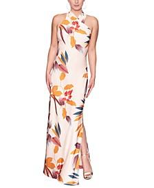 Crisscross Halter Maxi Dress