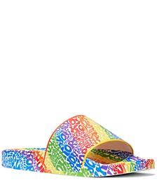 Men's Jake Rainbow Logo Slide Sandals