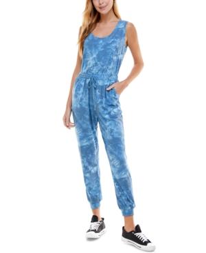 Juniors' Tie-Dyed Sleeveless Jumpsuit