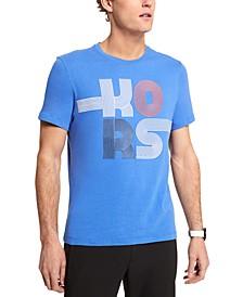 Men's Stacked Stripe Logo Graphic T-Shirt