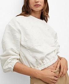 Embossed Design Sweatshirt