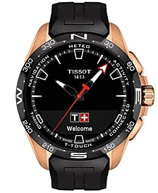 Men's Swiss T-Touch Connect Solar Black Rubber Strap Smart Watch 48mm
