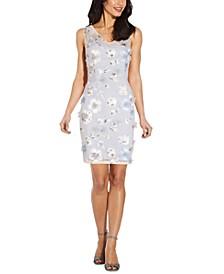 Sequin Appliqué Sheath Dress
