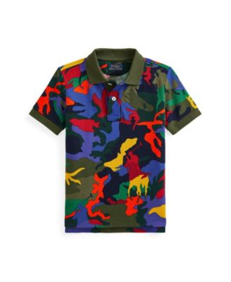 폴로 랄프로렌 남아용 폴로셔츠 Polo Ralph Lauren Toddler Boys Polo Pony Camouflage Polo Shirt,Player Camouflage