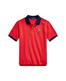 Big Boys Sparkler Bear Polo Shirt
