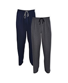 Men's Big and Tall Knit Sleep Pants, Pack of 2