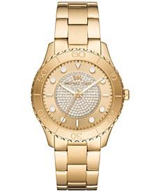Women's Runway Gold-Tone Stainless Steel Bracelet Watch 40mm
