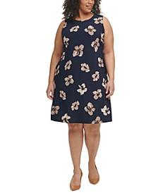 Plus Size Floral-Print Shift Dress