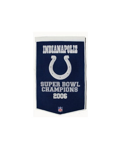 Winning Streak Indianapolis Colts Dynasty Banner