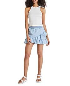 Aves Chambray Mini Skirt