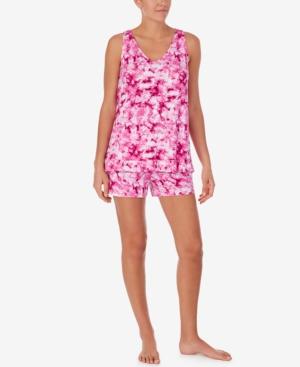 Ruffle-Trim Knit Shorts Pajama Set