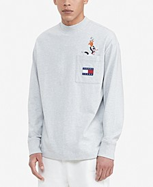 Tommy Hilfiger Men's Space Jam: A New Legacy x Tommy Jeans Long-Sleeve Pocket T-Shirt