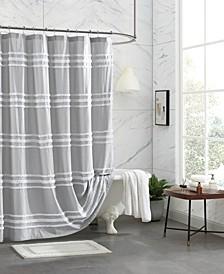 "Chenille Stripe Shower Curtain, 72"" x 72"""