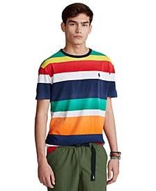 Men's Classic-Fit Striped Slub Jersey T-Shirt