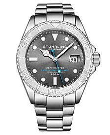 Men's Automatic Date Dive Silver-Tone Stainless Steel Bracelet Watch 42mm