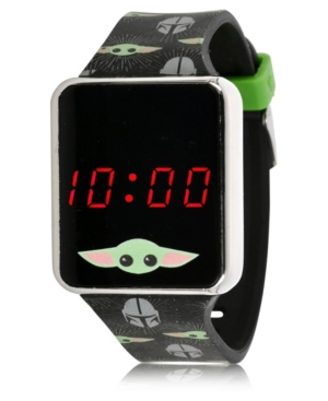 Star Wars Kid's Baby Yoda Touch Screen Black Silicone Strap Led Watch
