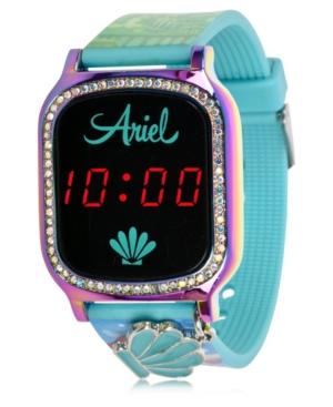 Disney Princess Kid's Touch Screen Aqua Silicone Strap Led Watch