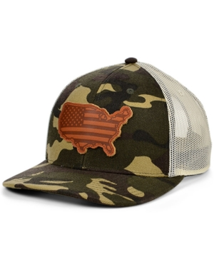 Local Crowns United States of America Woodland State Patch Curved Trucker Cap