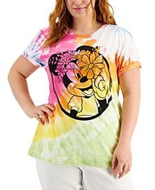Trendy Plus Size Minnie Tie-Dye Graphic-Print T-Shirt