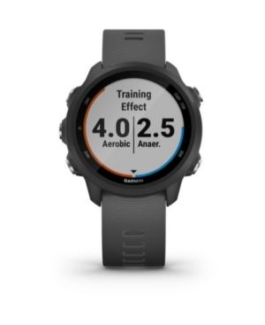Unisex Forerunner 245 Black Silicone Strap Smart Watch 30.4mm