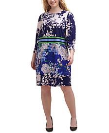 Plus Size Mixed-Print Dress