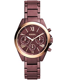 Women's Modern Courier Chronograph Wine Stainless Steel Watch 36mm
