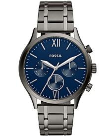 Men's Fenmore Multifunction Gunmetal Gray Bracelet Watch 44mm
