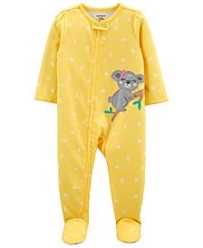 Baby Girls Loose Fit Footie Pajama