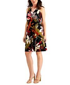 Printed Jersey Trapeze Dress