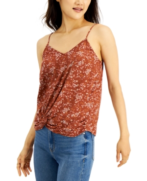 Juniors' Knot-Front Camisole