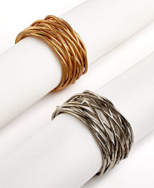 Excell Set of 4 Twisted Wire Napkin Rings