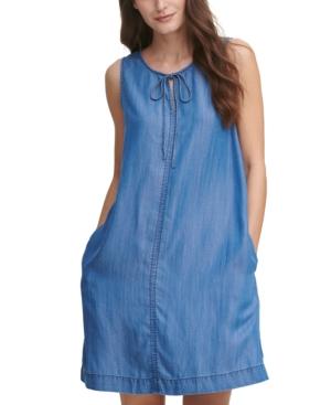 Tie-Front Sleeveless Dress