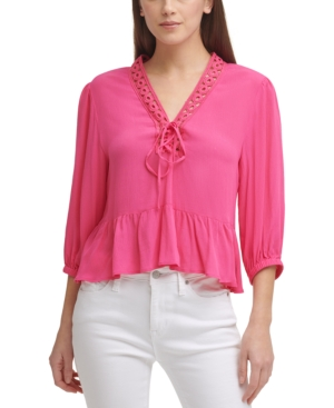 Lace-Trimmed Tie Top